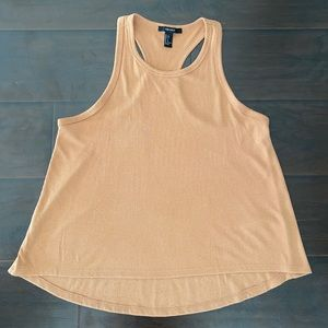 Forever 21 Nude Flowy Racerback Tank Top